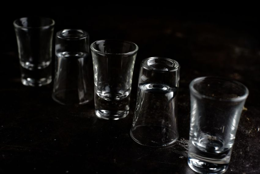 Arrangement Choice Close-up Crockery Crystal crystal clear Drinking Drinking Glass Glass Glass - Material Group Of Objects Household Equipment Indoors  No People Refreshment Shot Glass Still Life Studio Shot Table Tequila - Drink Tequila Shots Transparent Vodka