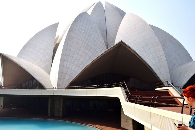 Lotus Temple In City