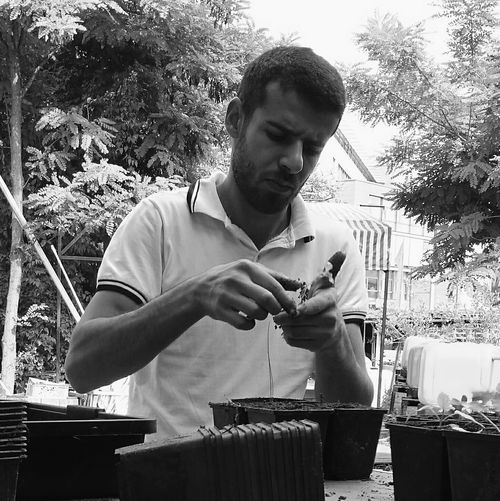 Young Adult Black&white Black & White Blacknwhite Black And White Blackandwhite Vscocam People Watching Mobilephotography Eye4photography  Still Life Taking Photos Outdoors Portrait Portrait Of A Man  This Is Masculinity