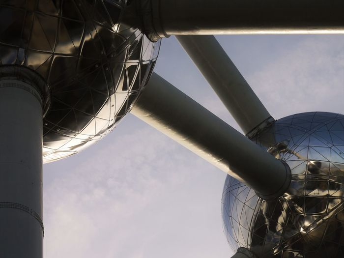 Angles Architecture Atom Atomium Belgium Brussels Built Structure December Low Angle View Outdoors Sky Urban