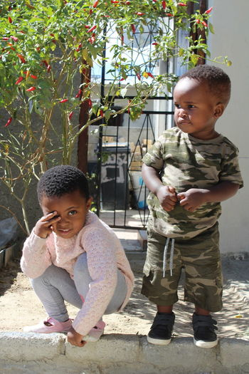 Children Boy And Girl South African Children Two Children Long Goodbye Live For The Story This Is Family