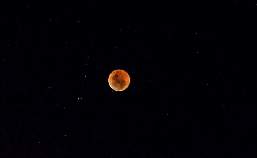 Lunar eclipse; blood moon. Nikon Blood Moon Lunar Eclipse Stars EyeEm Selects Astronomy Space Moon Star - Space Moon Surface Planetary Moon Full Moon Space And Astronomy Sky Eclipse Astrology Space Exploration Sky Only Galaxy