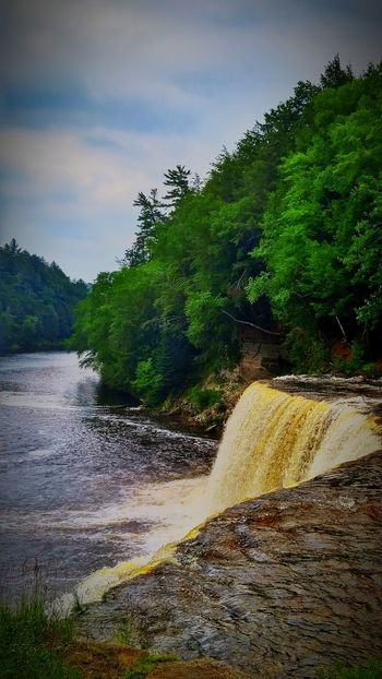 Waterfall Michigan Upper Peninsula Tahqamenon Falls State Park Tahquamenon Falls