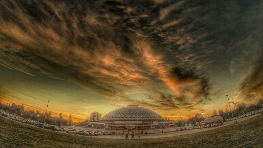 Hello World Sunset Go Pro Relaxing HDR Clouds