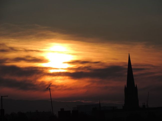Sunset Orange Color Architecture Cloud - Sky No People City London Lifestyle