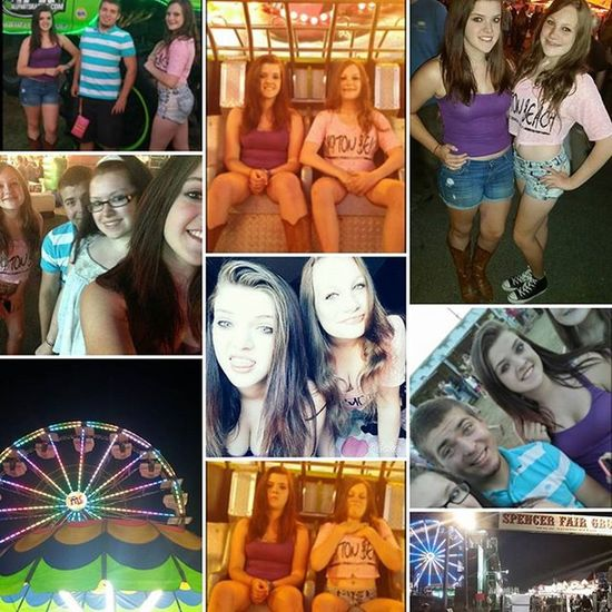 Spencer Fair tonight with these babes 💥🎡💕