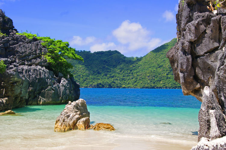 Caramoan island in the philippines, beautiful scenery Ocean Waves Ocean Photography Caramoan Island, Camarines Sur Cliff No People Ocean Remote Rock Formation Rocky Sky Solitude Water Philippines Photos