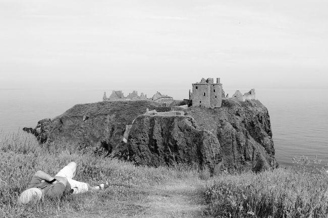 Lazy Summer Dunnottar Castle Black & White Texture
