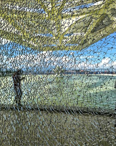 Full Frame Pattern Day Backgrounds No People Fishing Net Outdoors