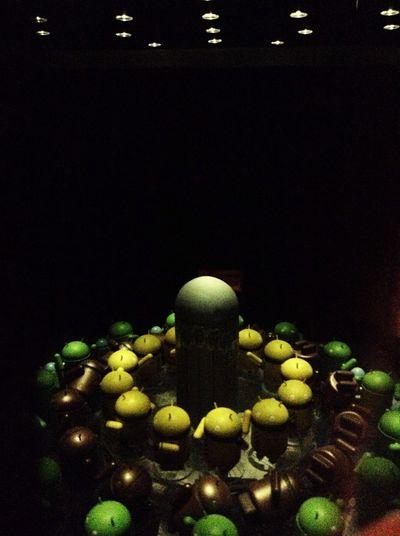 Inside the zoetrope. TechTrekExhibit