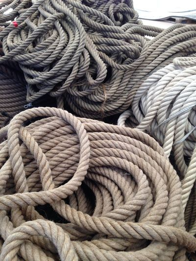 High Angle View Of Ropes