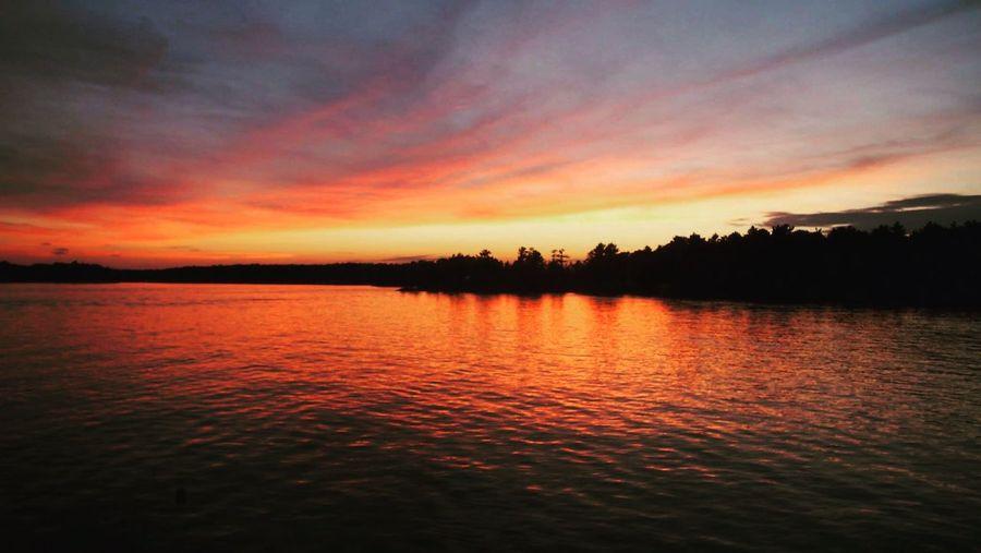 Sunset EyeEm Best Shots EyeEm Nature Lover EyeEmBestPics Lake View Nature Cottagelife Ontario Canada Lake Rosseau