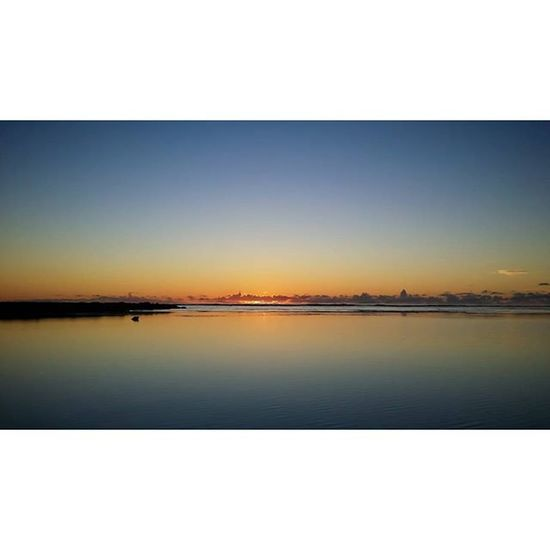 Calm ~ Sunset Maldiveslovers Thinadhoo Blue orange shades cloud sea sky photooftheday instamood