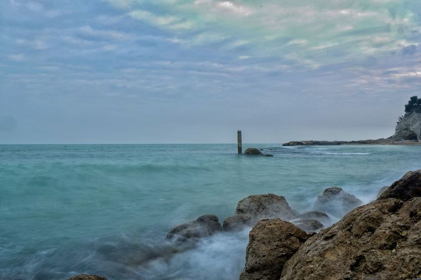 Sea Water Beauty In Nature Nature Horizon Over Water Outdoors Sky Rock - Object No People Tranquility Scenics Day Beach Landscape Photography Tranquility Panoramic Landscape NikonD3300📷 Cloud - Sky Rock Formation Nikon Bay Long Exposure Long Exposure Shot Waves