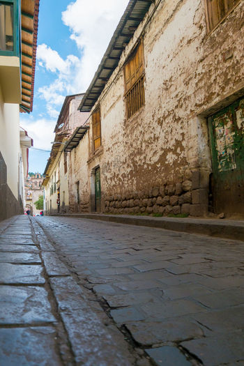 Path to the Past Alley Architecture Building Exterior Cloud - Sky Cobblestone Day Dwellings No People Outdoors Residential District Street Tourism Town Traditional