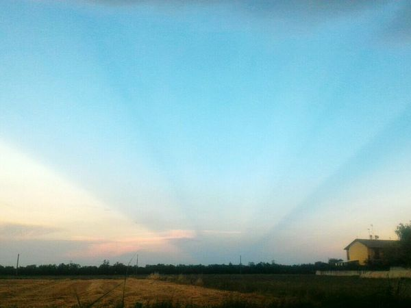 Agriculture Rural Scene Field Cloud - Sky Sky Outdoors Nature Sunset Tranquility Scenics No People Landscape Tree Beauty In Nature Multi Colored Day Grass