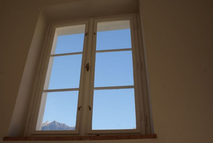 Window and Mountains Light Sky Mountains Simplicity Minimalism Summer Views