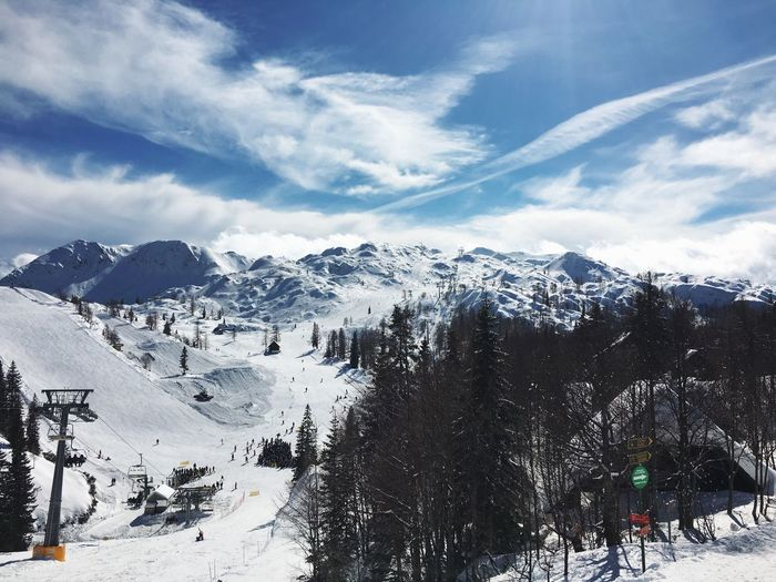 Snow and sun. Let's have some fun. Snow Winter Sky Cold Temperature Weather Mountain Nature Scenics Beauty In Nature Day Tree Outdoors Landscape No People Ski Resort  Ski Fun Skiing