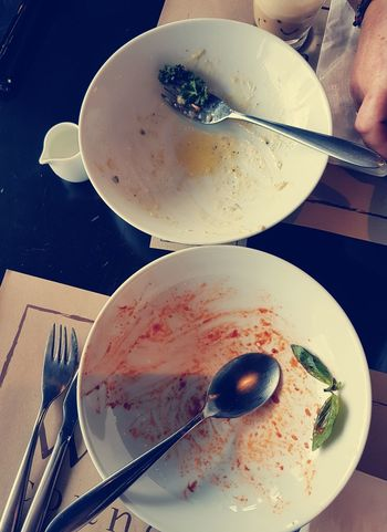 all gone Yummy Full All Gone  #Chiang Mai Thailand Food No Food Hungry Scraps Pasta Plate Fork Table Directly Above Close-up Food And Drink Eaten Leftovers Empty Plate Butter Knife Cutlery