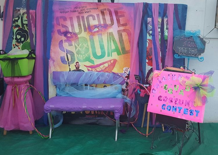 Movies Drive-in Theater Promotion For Suicide Squad Costume Contest Photo Booth