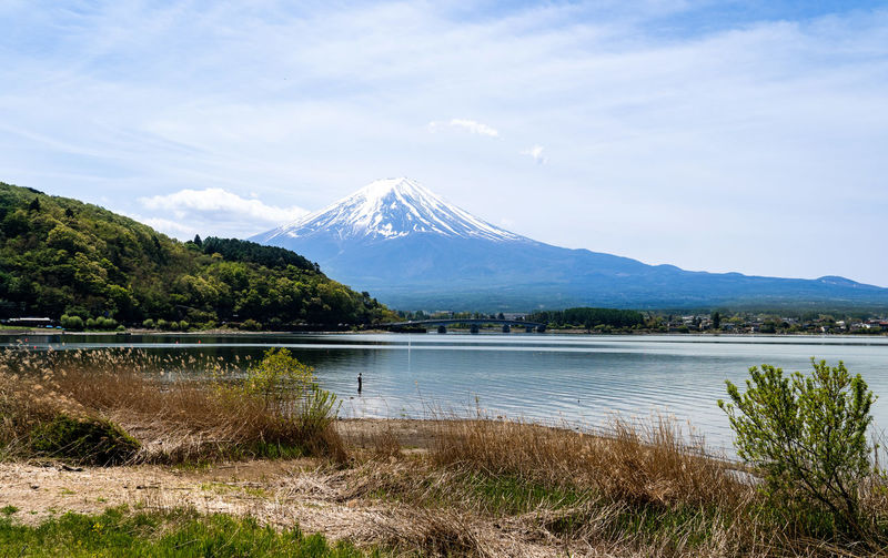 Mountain Sky Beauty In Nature Scenics - Nature Water Lake Tranquil Scene Tranquility Plant Non-urban Scene Cloud - Sky Snow Nature Landscape Snowcapped Mountain Idyllic Environment No People Volcano Mountain Range Mountain Peak Outdoors