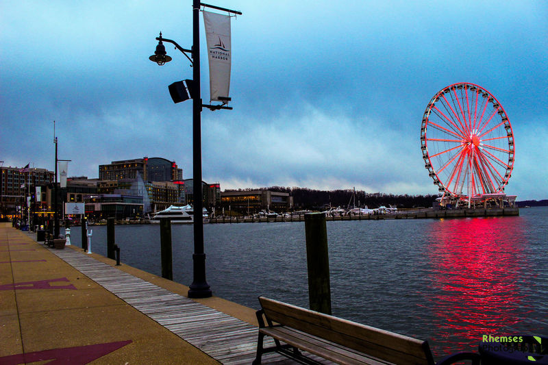 Views from the Pier Amusement Park Amusement Park Ride Arts Culture And Entertainment Cloud - Sky DC Ferris Wheel Harbour Maryland Nature Outdoors Photo Photograph Photography Pier Rhemses Sky Travel Destinations Virginia Water