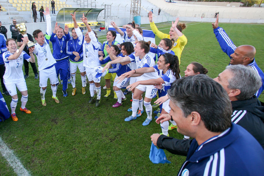 Israel women national football team win and takes the 1st place 1-0 against Cyprus women national football team for a 2nd Aphrodite cup tournament game at Limassol,Cyprus on 16.03.2016 0-1 16.03.2016 2nd Aphrodite Cup Cyprus Championhip CYPRUS FOOTBALL ASSOCIATION Cyprus Women National Football Team Israel Women National Football Team Limassol Cyprus