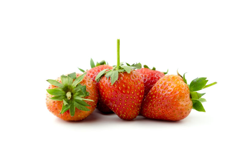 Strawberry (Fragaria x ananassa Duchesne) are fresh red fruit. rich in vitamins have a taste sour and sweet on isolated white background and clipping path Strawberry Isolated Food And Drink White Background Fruit Healthy Eating Freshness Organic Closeup Raw Food Ripe Juicy Berry Diet Delicious Tasty Clipping Path Strawberries Agriculture Fragaria X Ananassa Duchesne Ex Weston Studio Shot Food Red Group Of Objects