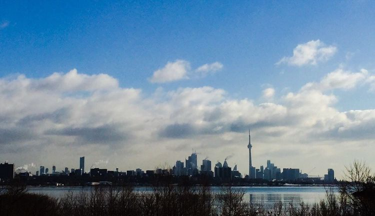 Nice condos with an awesome view of Toronto Skyline IPhoneography Lake Ontario Humber Bay Shores