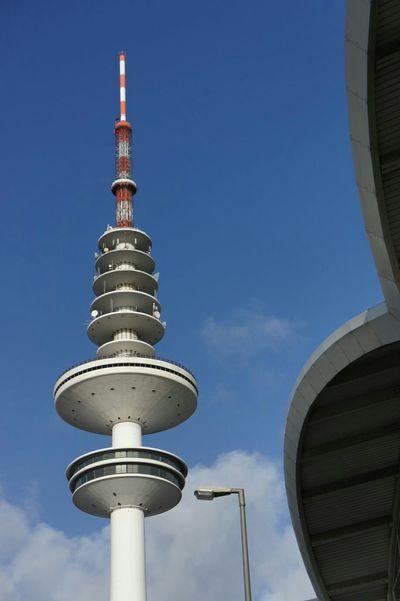 Hamburg Messeturm Heinrich Hertz Turm Sun Sky Clouds Sony Nex3