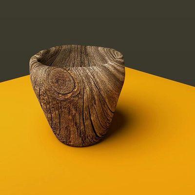 -Gelas Kajoe Blender Rendered 3dsoftware Glass 3D 3dartwork Digitalart  Woodentexture Wood Nature