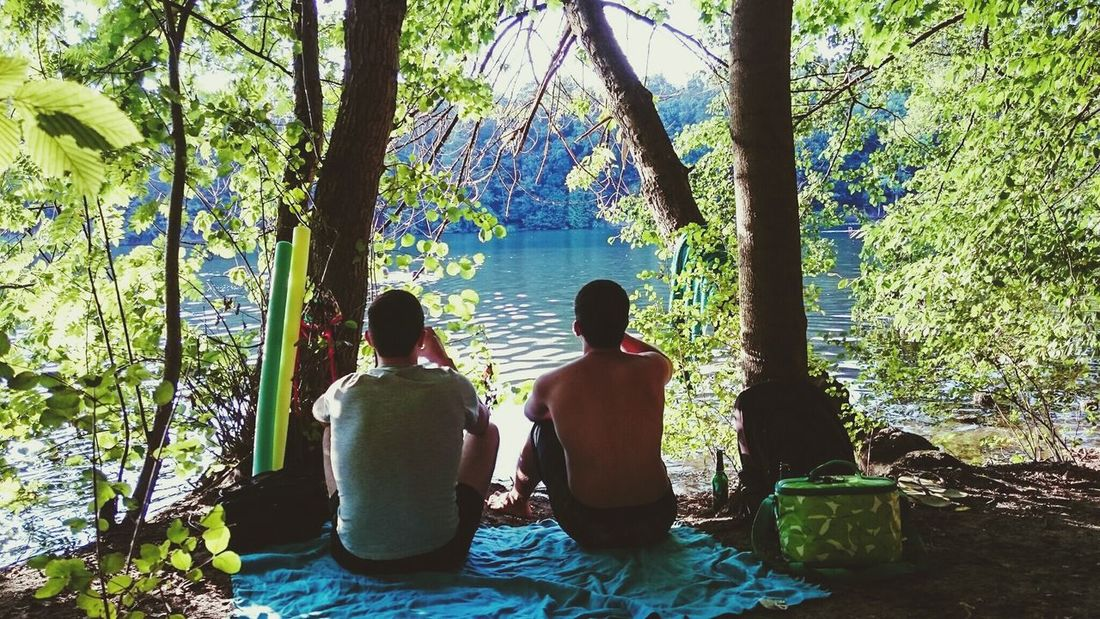 Brotherhood Quality Time Lake View Creative Light And Shadow Lovely Weather Friendship Summer Views