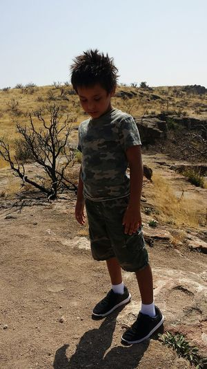 One Boy Only Standing Casual Clothing Camo