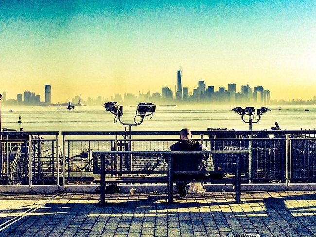 Staten Island overlooking Manhattan Manhattan New York New York City New York Skyline  Newyork