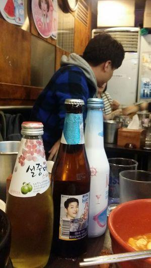Song Joong Ki is advertising everything ! Beer Korean Celeb Korean Actor MyeongDong Korean Restaurant Seoul South Korea Seoulspring2017