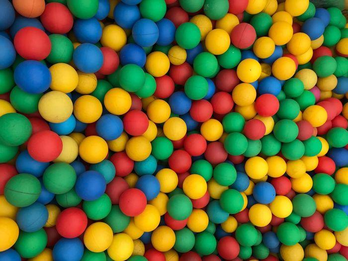 Full frame shot of multi colored bubble gums