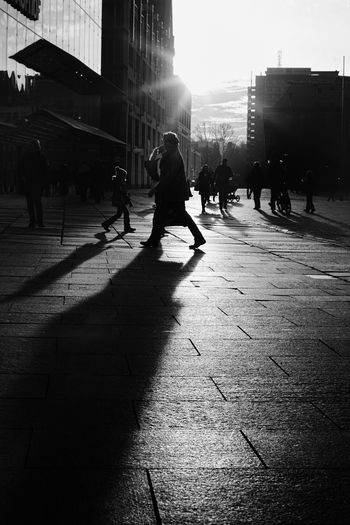 Siluette Blackandwhite Sunset Light And Shadow