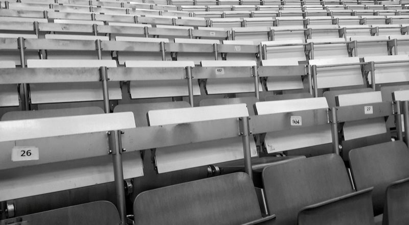 Empty lecture halls. This is what an apocaplypse looks like in my world. Studying University University Life Universität  Student Life Lecture Hall Empty Places Black And White Monochrome Learn & Shoot: Simplicity