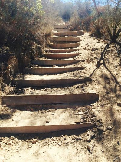 Staircase Steps Steps And Staircases Sunlight Shadow Day Sand No People Outdoors Nature Mission Trails