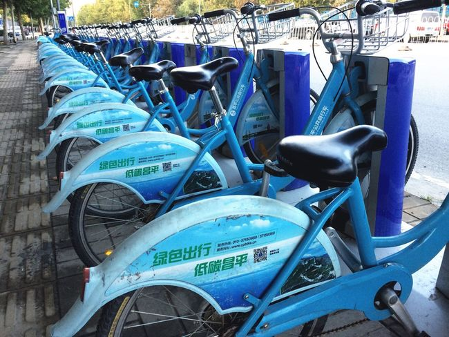 CyclingUnites Transportation Stationary Mode Of Transport Outdoors Land Vehicle No People Day Order In A Row Bicycle