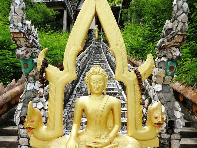 Buddha Religion Let's Go. Together. Thailand Thai Prachuap Khiri Khan Real Thailand Ao Noi Cave Tample PrachuapKhiriKhan EyeEm Selects EyeEmNewHere Mountain Happy Summer Forest Paint The Town Yellow