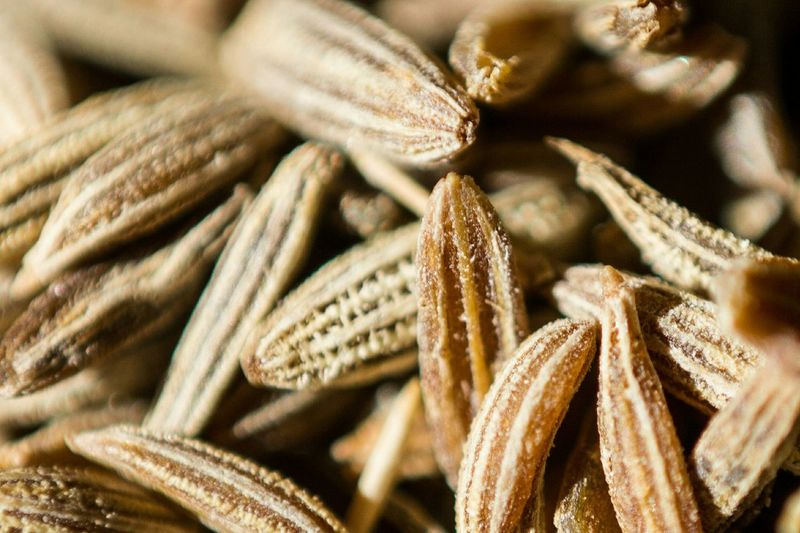 Full frame shot of cumin seeds