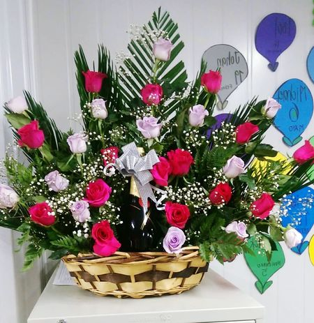 Basket Flower Indoors  Table No People Celebration Day