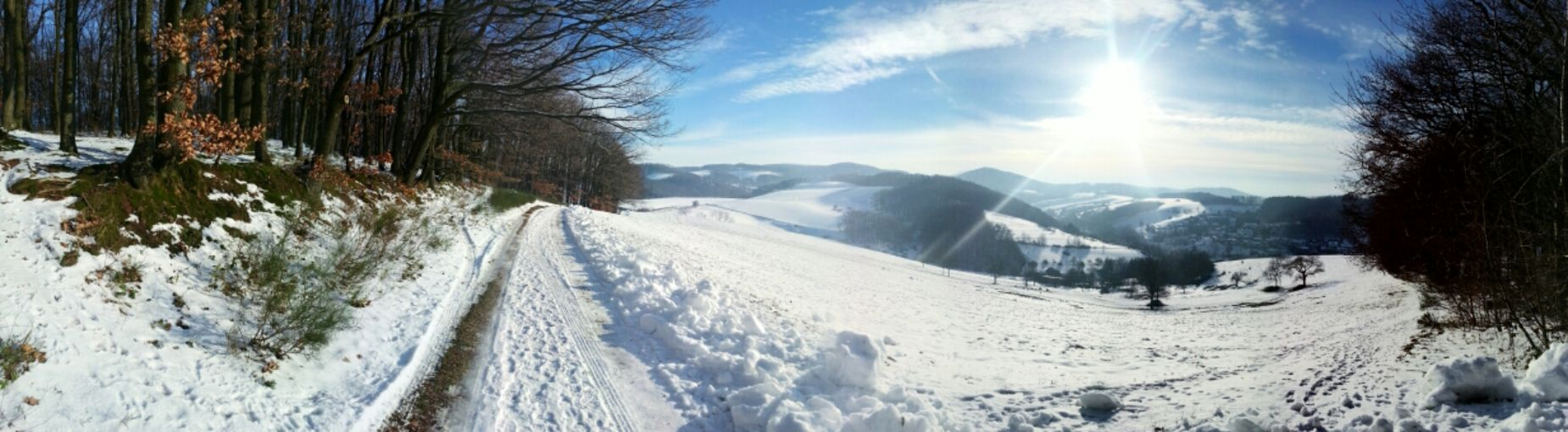 Just two weeks ago there was a Winter Wonderland Landscape Panorama