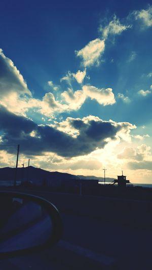 Sunset South Korea Kanghwado Draving Yellow Sea Car Samsung Galaxy S6 강화도 화도