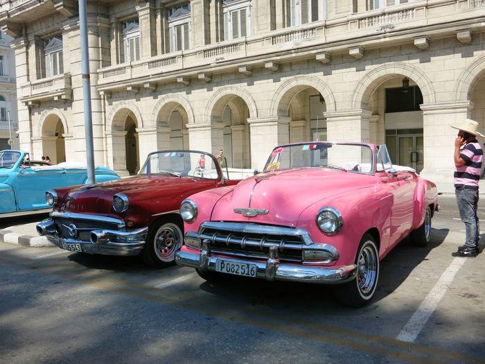 Vintage car in city