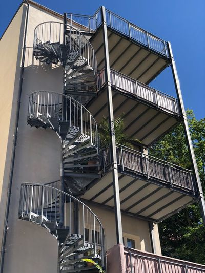 Potsdam IPhone X Photography IPhone X Architecture Built Structure Building Exterior Low Angle View Day Building No People Fire Escape Sky Nature Staircase Railing Outdoors Sunlight Metal City Steps And Staircases Residential District Tree Plant