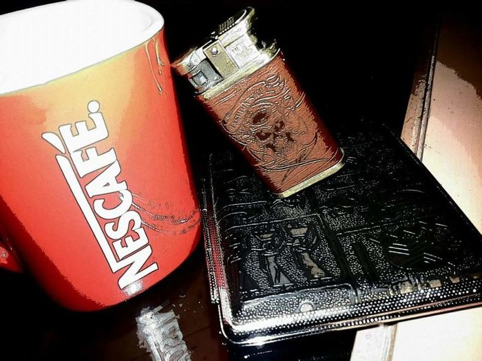 No People Lights Colors Capture The Moment Photographer Front View Nice Shoot😊 Nice Moment Takin By Me Life Happy Time Lighter🔥💨 Cigarettes🚬 Nescafe 3in1 Cigarette Box Morning Indoors  Color Photography Adults Only