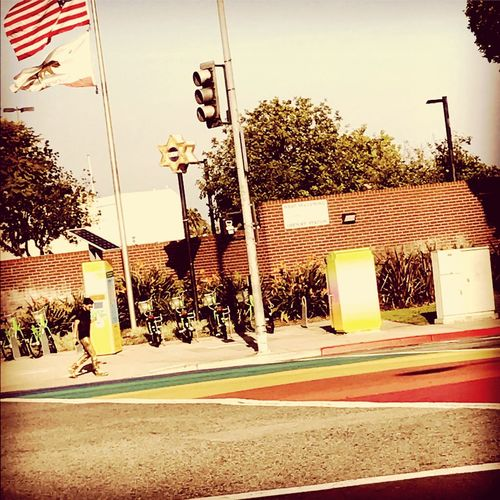 Break The Mold Outdoors Real People Californiathroughmylens Weho Pacificpride Lapride Rainbow Colors