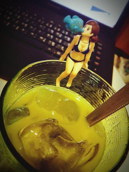 Green tea latte Fuchiko